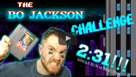 The Bo Jackson Challenge for Tecmo Super Bowl (Full Video)